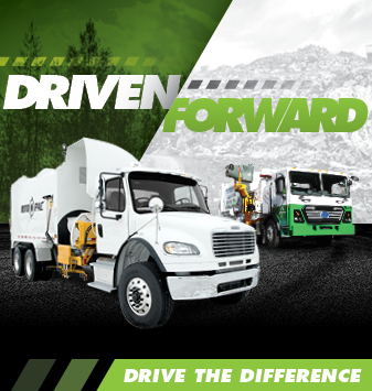 Driven Forward - side loader garbage truck manufacturer