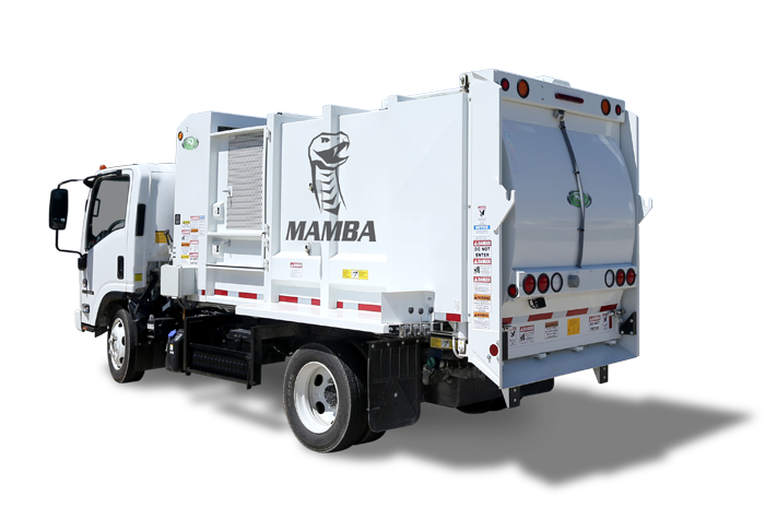 Rear Left Side View of a New Way Mamba Satellite Side Loader