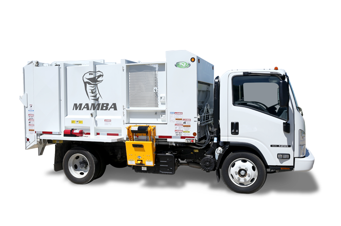 Left Side View of a Mamba Satellite Side Loader