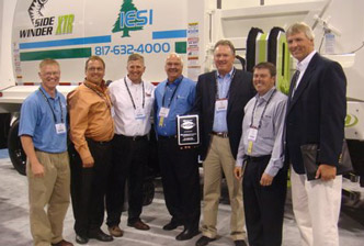 "Elliott Equipment receives the ""2008 Dealer of the Year"" award"