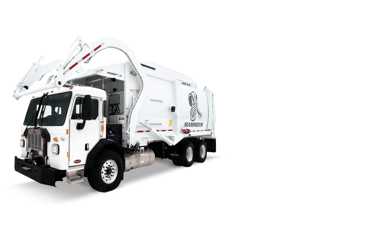 New Way Mammoth front loader refuse truck