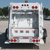 Rear View of a White New Way Diamondback Rear Loader