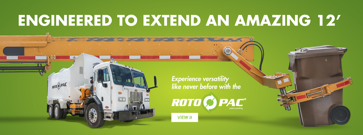 Roto Pac arm is engineered to extend 12 feet for ultimate versatility