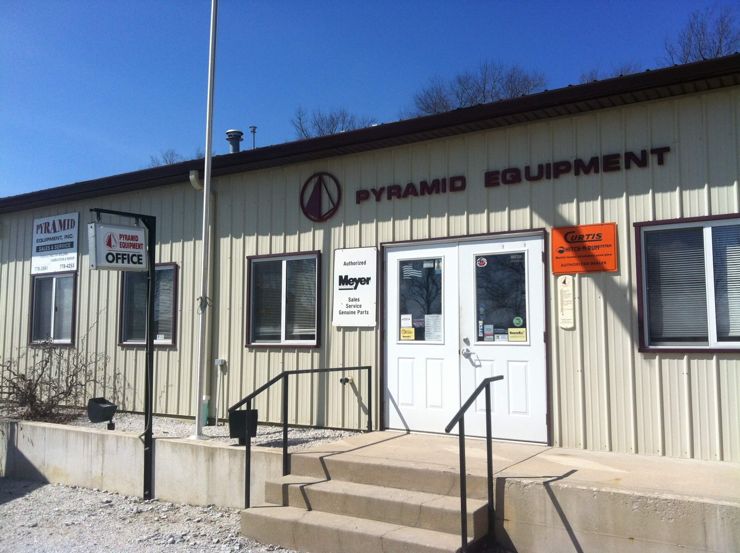 Pyramid Equipment, Inc.'s office in Rolling Prairie, Indiana